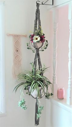 Your place to buy and sell all things handmade Rope Plant Hanger, Macrame Plant Holder, Macrame Plant Hangers, Plant Holders, Macrame Owl, Cotton Plant, Pots, Macrame Projects, Hanging Plants