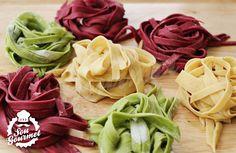 Massa de Macarrão Coloridada Caseira / Pasta Colorida | Sou Gourmet