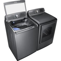 Samsung - activewash 5.2 Cu. Ft. 15-Cycle Steam Top-Loading Washer - Platinum - AlternateView12 Zoom
