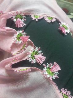 This Pin was discovered by HUZ Needlework, Diy Crafts, Embroidery, Detail, Lace, Needlepoint, Dots, Dressmaking, Pattern