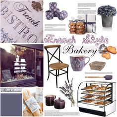 French Bakery by szaboesz on Polyvore featuring interior, interiors, interior design, home, home decor, interior decorating, John Robshaw, Mateus, Le Creuset and OPTIONS