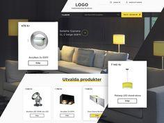 E-commerce web site design for lighting retailer