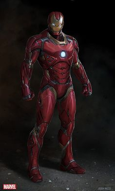 Concept art of 'Iron Man's 'Mark XLVI' armor for 'Captain America: Civil War' (2016)