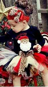 Ryleighs birthday outfit. A number 1 instead of santa.