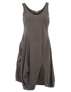 ULTIMATE MIKS - Cotton dress with walking slit - navabi