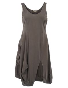 Cotton dress with walking slit in Dark-Green designed by Ultimate Miks to find in Category Dresses at navabi.de J'adore cette marque !!!