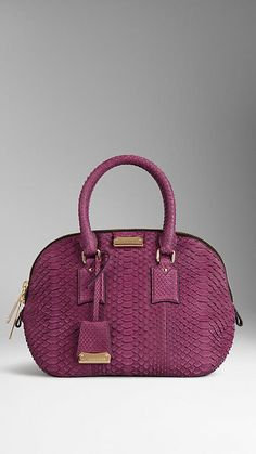 16b82bcdc33d Damson magenta The Small Orchard in Nubuck Python. Elegant bag in soft  nubuck python Refined