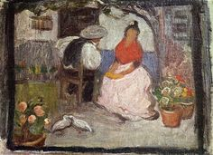 Pablo Picasso「Couple in an Andalusian patio」(1899)