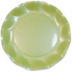 Piattino verde perlato diam.21 cm. 10 piatti in cartoncino alimentare, per buffet o dolci. Usa e Getta. Compleanni, cerimonie come Battesimo, Prima Comunione, Cresima e Matrimonio. Disponibili da C&C Creations Store