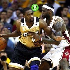 Gilbert Arenas and LeBron James.