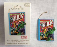 Hallmark Keepsake Christmas Ornament Incredible Hulk & Wolverine Marvel 2010 #Hallmark