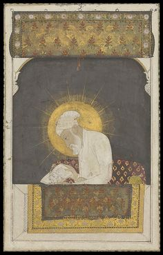 18th century Mughal cover (detail)