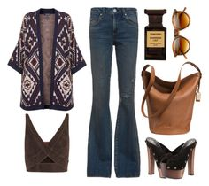 """""""Almost famous."""" by sinesnsingularities ❤ liked on Polyvore featuring Giuseppe Zanotti, AMO, Topshop, Coach, Tamara Mellon, Tom Ford, Retrò, clogs and hippiechic"""
