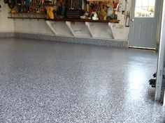 Polyurea and polyaspartic floor coating.