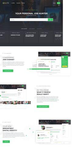 CVlite.sk (More web design inspiration at topdesigninspiration.com) #design #web #webdesign #sitedesign #responsive #ux #ui Design Web, Site Design, Changing Jobs, Web Design Inspiration, Website Template, Did You Know, Templates, Digital, Web Design