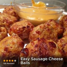 "Easy Sausage Cheese Balls | ""Simply amazing, and simple to make. I use this recipe frequently when I'm asked to bring appetizers to a get-together."""