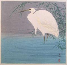 Ohara Koson (1877-1945): Egret