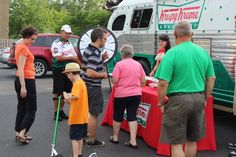 families love the prize wheel ~ Collingswood NJ