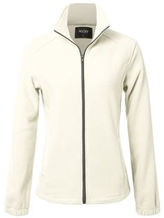 JayJay Women Ultra Soft Breathable Full-Zip Fleece Jersey Jacket