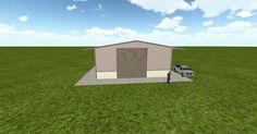 Dream #steelbuilding built using the #MuellerInc web-based 3D #design tool http://ift.tt/1Yvd2CX