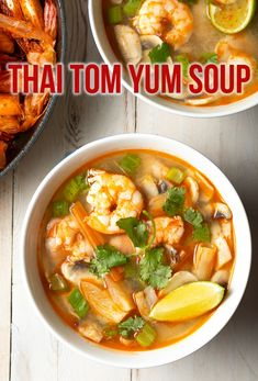 Thai Tom Yum Soup Recipe (Hot and Sour Soup) ASpicyPerspective thai healthy lowcarb shrimp glutenfree dairyfree paleo 223209725268530337 Tom Yum Soup, Tom Yum Goong Soup Recipe, Asian Recipes, Healthy Recipes, Ethnic Recipes, Thai Basil Recipes, Chinese Soup Recipes, Thai Hot And Sour Soup, Recipes