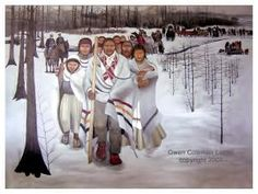 Trail of Tears by **Gwen Coleman Lester** Choctaw Native American Beliefs, Native American Artists, Native American Tribes, Native American History, Native Americans, Choctaw Indian, Indian Tribes, Choctaw Nation, Cherokee Tribe