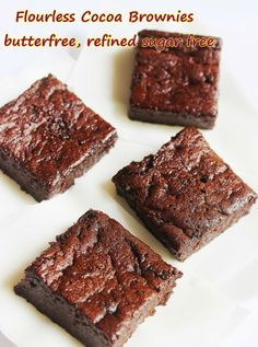 Skinny Low Calorie Flour-less Brownies.  #Valentinesday #chocolate #Brownies