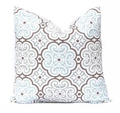 Aqua Pillows Decorative Throw Pillow Covers by FestiveHomeDecor