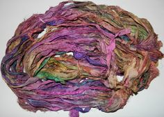 Recycled Sari Silk Ribbon Yarn3.5 oz / 100 grams 60 by jcraft4you