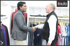 Our sales team interacts with Provogue's CEO, Timothy Eynon, one among the many visitors at #IFF