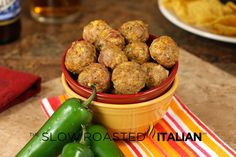 Jalapeño Popper Meatballs from @SlowRoasted
