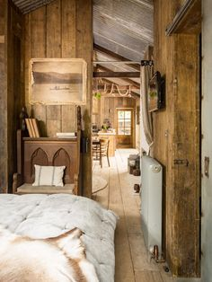 Cabins And Cottages: Rustic and romantic, Firefly cabin has the time-wo. Cabin Homes, Log Homes, Tiny House Cabin, Rustic Lake Houses, Rustic Cottage, Rustic Cabins, Log Cabins, Cabin In The Woods, Little Cabin