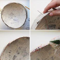 Giant Crepe Paper Peony---Part 3 of 10---written directions on post---tiffanie turner/corner blog peony pinatas