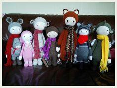 lalylala family made by Tina D. / crochet pattern by lalylala