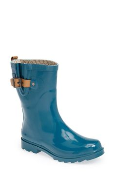 Bright blue boots // 'Top Solid Mid Height' Rain Boot