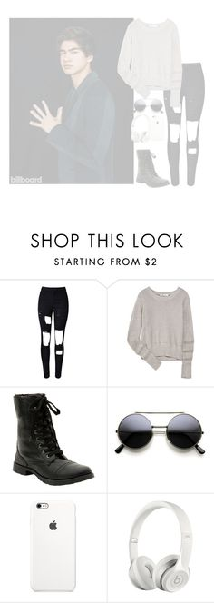 """""""•tonight we are victorious,Champagne pouring over us All my friends were glorious Tonight we are victorious•"""" by cupcake-muke ❤ liked on Polyvore featuring T By Alexander Wang, Beats by Dr. Dre, women's clothing, women's fashion, women, female, woman, misses and juniors"""