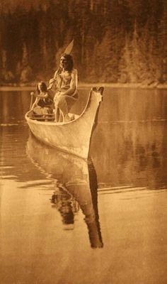 "Nootka Men by Edward S. Curtis - ""The canoe is floating on the waters of Boston cove, where in 1803 the trading ship Boston was taken and burned by the Mooachaht Indians, and the entire crew killed except John Jewitt and John Thompson, who were hel Native American Photos, Native American Tribes, Native American History, American Indians, Native Indian, Native Art, Indiana, Into The West, Sioux"