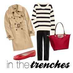 khaki trench and red ballet flats! Look Fashion, Winter Fashion, Fashion Outfits, Red Flats Outfit, Red Shoes, Classy Outfits, Cute Outfits, Work Outfits, Preppy Style