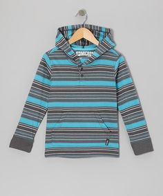 Look at this Micros Dark Gray Stripe Knit Hoodie - Boys on #zulily today!