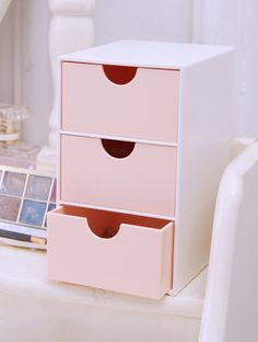 SheIn offers 3 Drawer Desk Organizer & more to fit your fashionable needs. desk With Drawers Study Room Decor, Cute Room Decor, Room Ideas Bedroom, Bedroom Decor, Gold Room Decor, Bedroom Sets, Kawaii Room, Diy Décoration, Aesthetic Room Decor