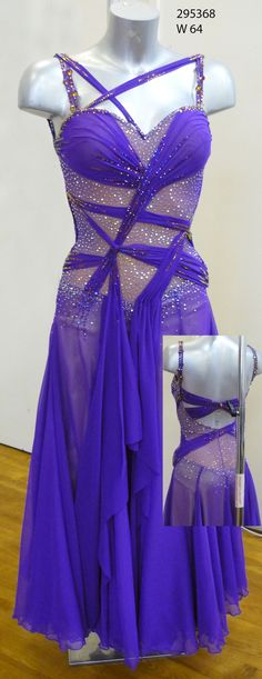 Kara Tointon purple ballroom dress (shorten for a Latin dress, maybe?)