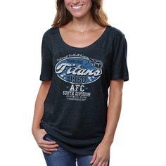 Nike Tennessee Titans Ladies Tri-Blend Reverse Logo T-Shirt ...