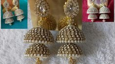Making of designer bridal silk thread jhumkas at home || DIY bridal silk thread jhumka earrings