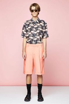 Flamingo Short-Sleeved Button-Down