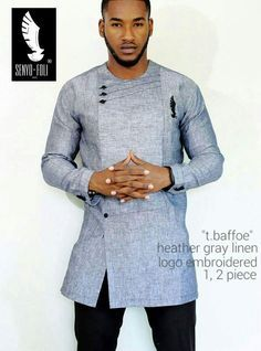 African fashion for men has come a long way. Today, we have a wide selection of amazing African clothing for men that are available in different designs, colors, styles, and fabrics. African Shirts For Men, African Dresses Men, African Attire For Men, African Clothing For Men, African Wear, African Style, Traditional African Clothing, Trendy Clothing, Clothing Ideas