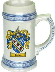 Paternal Great Grandmother Boone Coat of Arms / Family Crest stein mug | coatofarms - Housewares on ArtFire