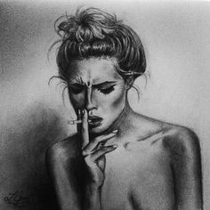 Image result for sketches of cigarette smoke