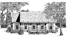 Country House Plan with 1247 Square Feet and 3 Bedrooms from Dream Home Source | House Plan Code DHSW12034 Reversed...