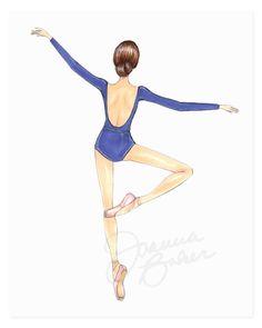 Blue Ballerina Art Print