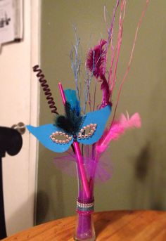 Masquerade Party Table Centerpiece